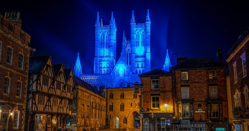 Cathedral Illuminated Blue