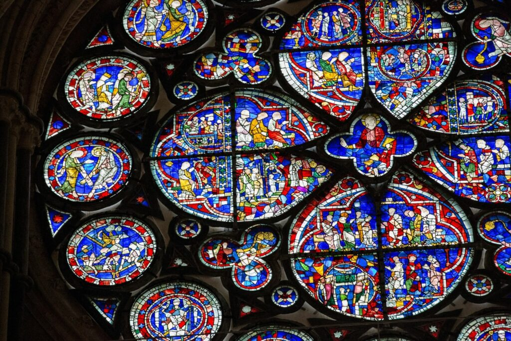 Stained Glass Window at Lincoln Cathedral