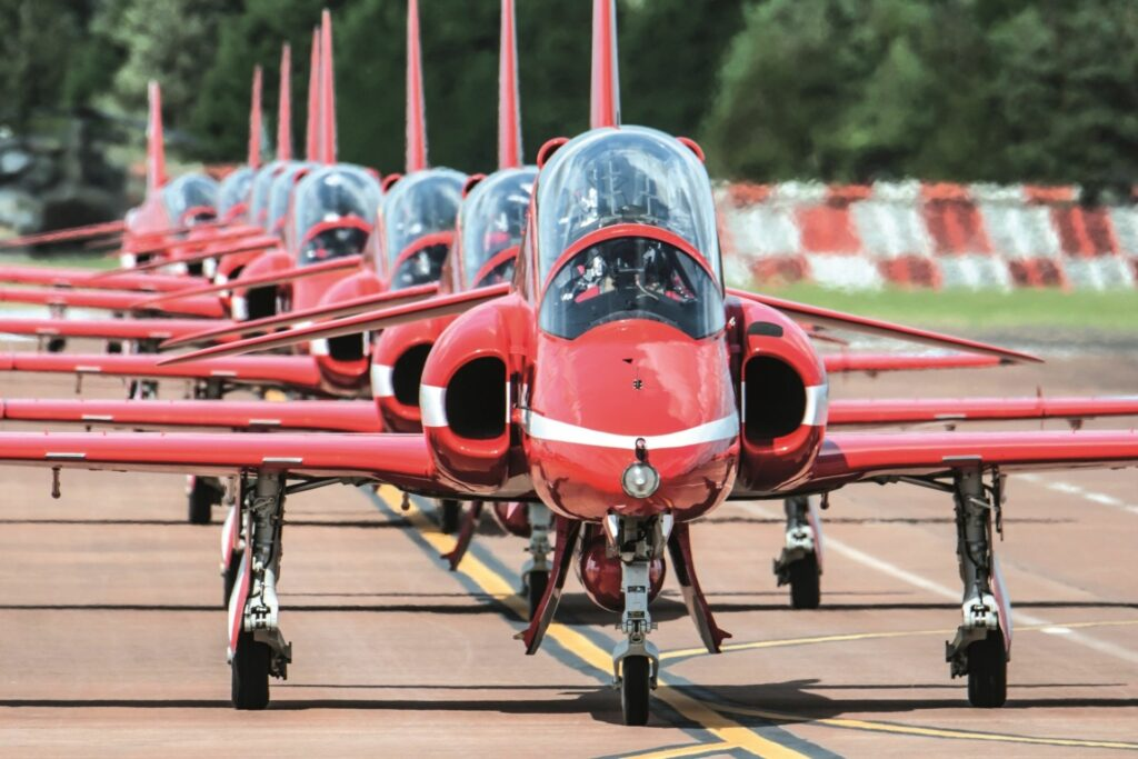 RAF Red Arrow Aerobatic Team