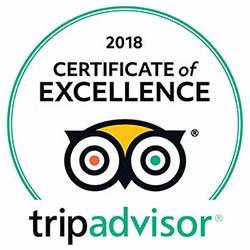 2018 Certificate of Excellence tripadvisor
