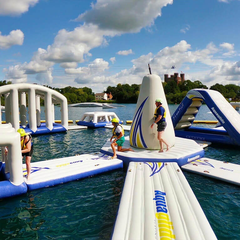 Tattershall Lakes Water Park Inflatable Course