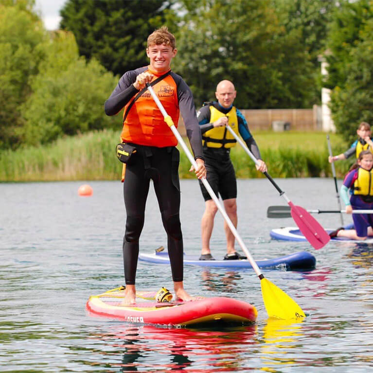 Paddle Boarders Tattershall Lakes