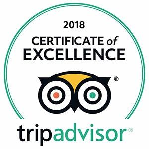 Tripadvisor 2018 Certificate of Excellence