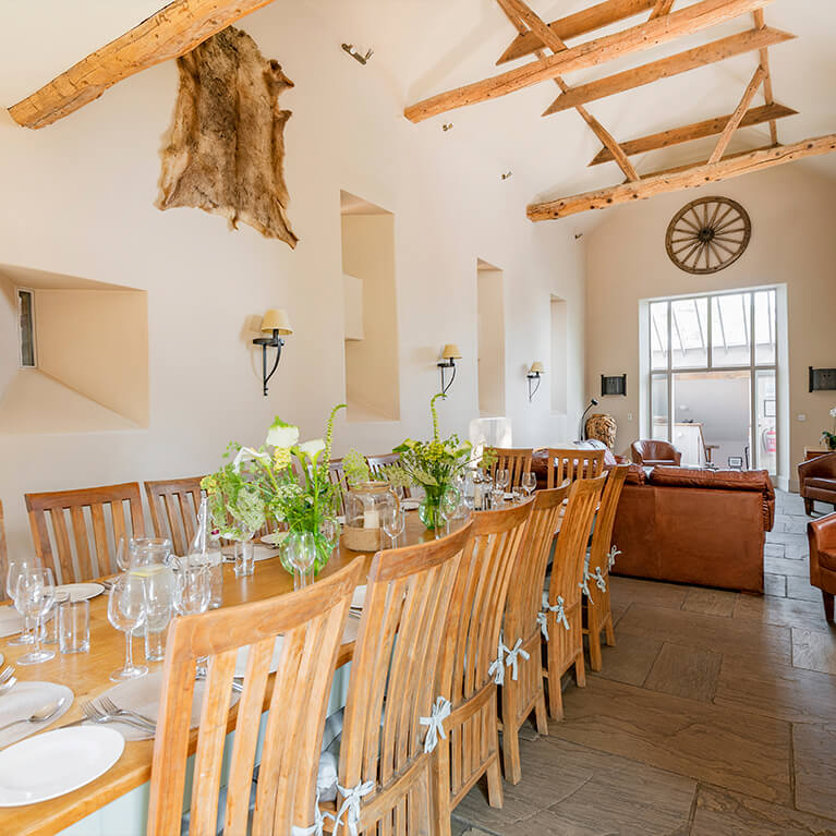 Marris Barn Dining Area