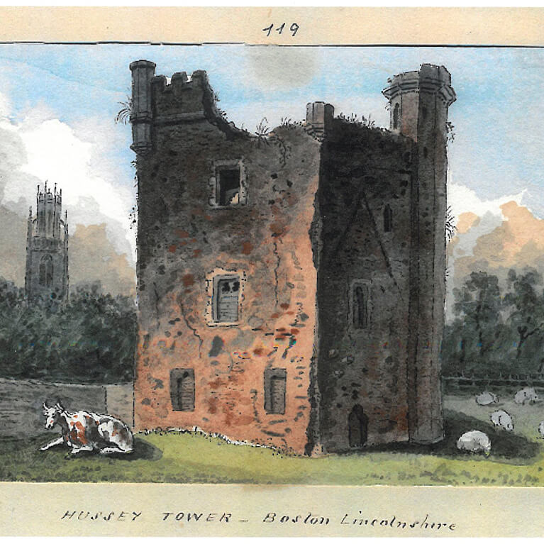 Hussey Tower 1825 Illustration