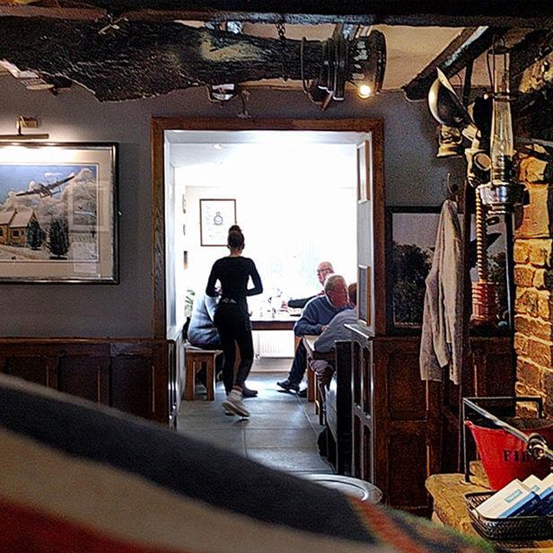 Dambusters Inn Saffron at Table